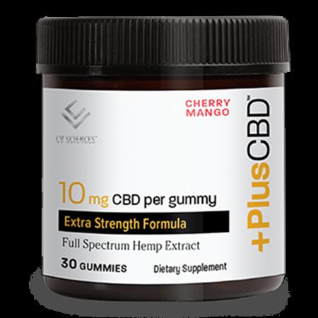 PlusCBD Extra Strength Gummies - 10mg Cherry Mango 30ct image number null