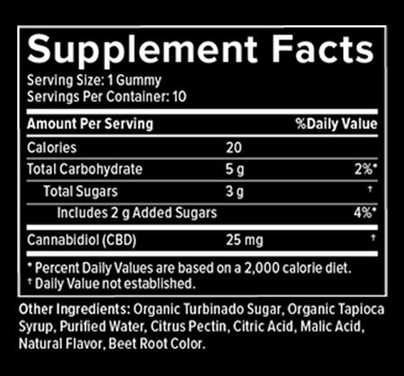 Happy Lane CBD Gummies 10ct 25mg Cherry Jubilee 0.00% THC image number null